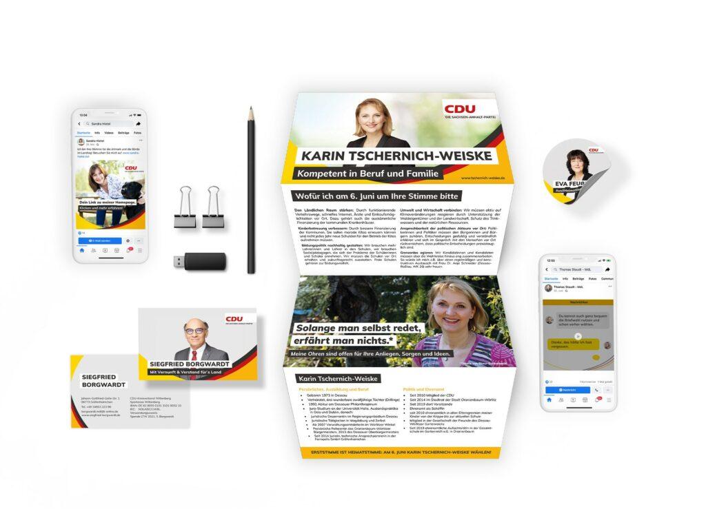 Auswahl an Produkten des Kandidatenservice