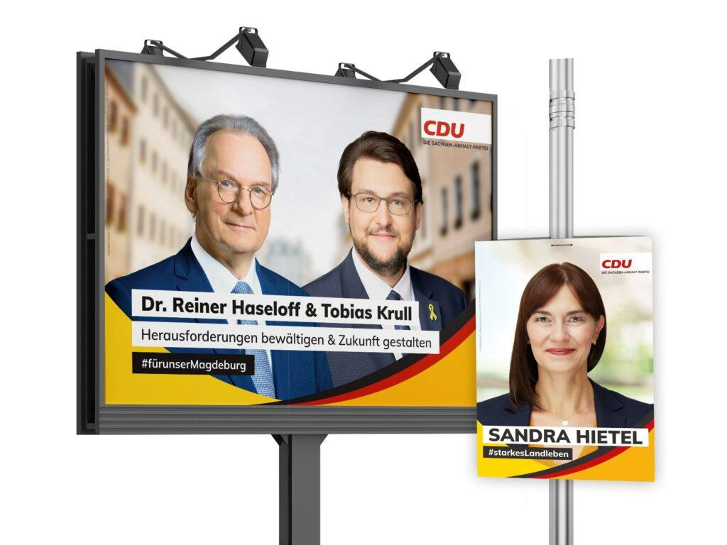 Gemeinsame Großfläche und Kandidatenplakat
